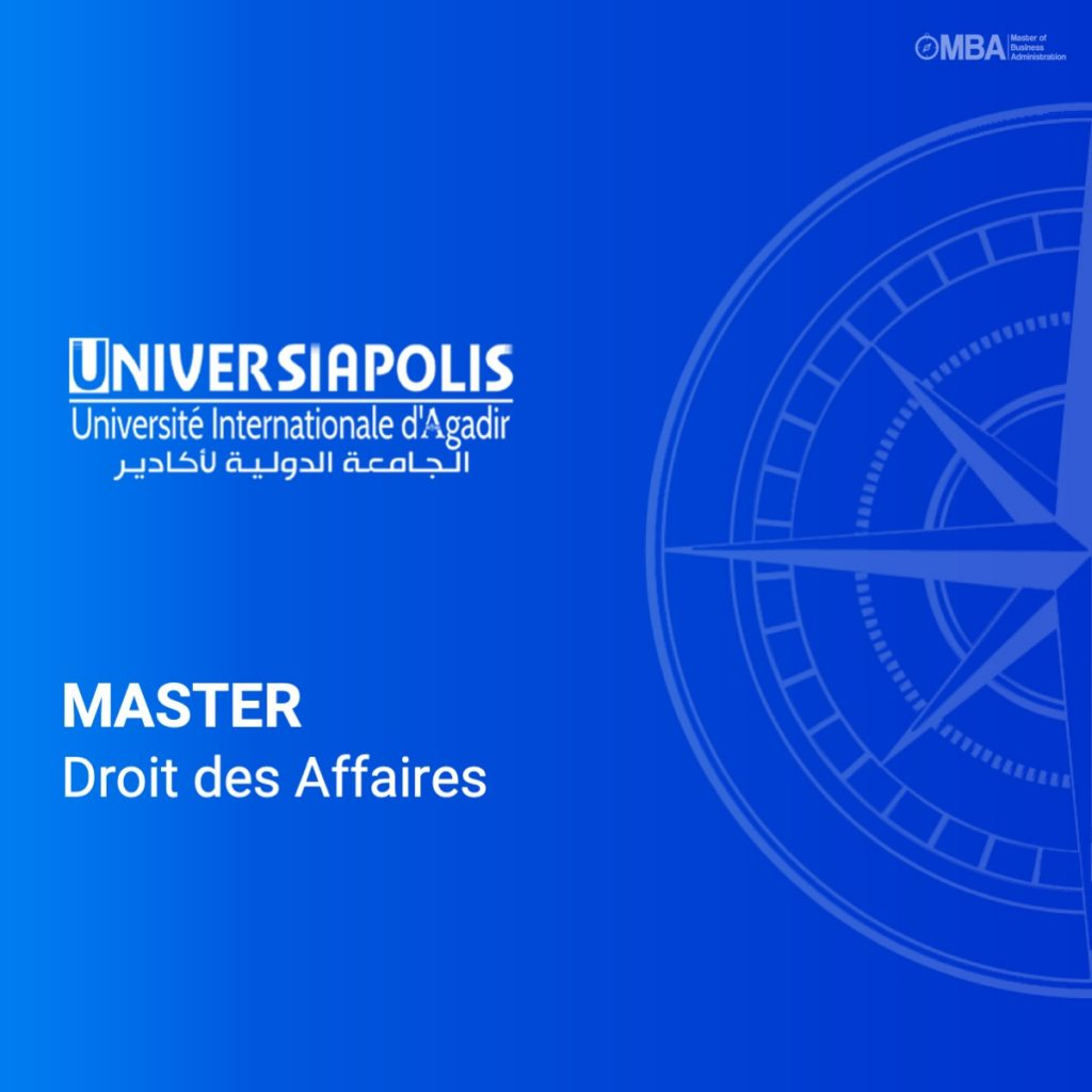 Master Droit des Affaires - Universiapolis