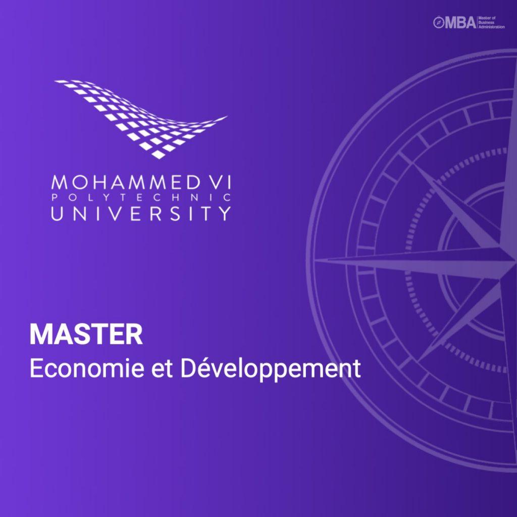 Master en Economie et Développement - UM6P I MBA.ma