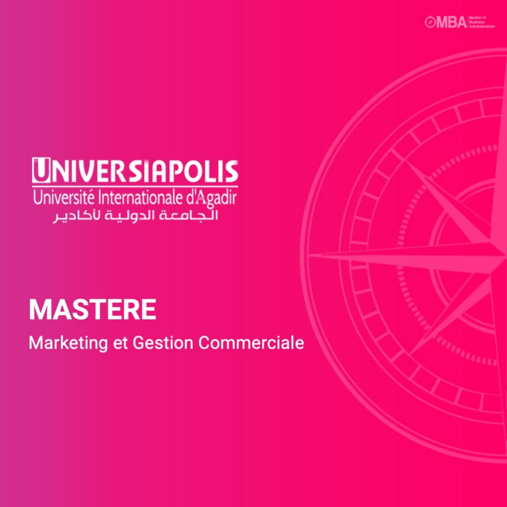 Master en marketing et gestion commerciale - Universiapolis