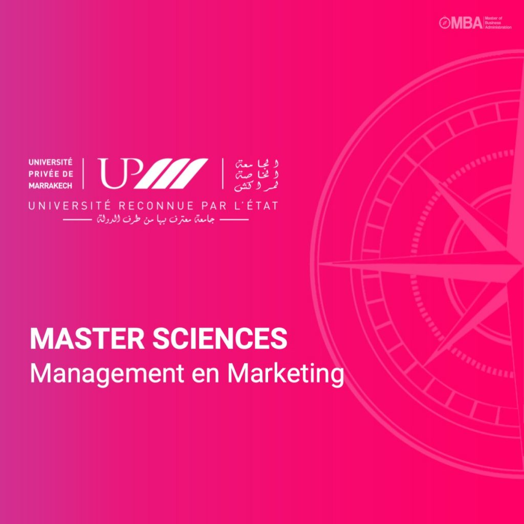 Master sciences management marketing