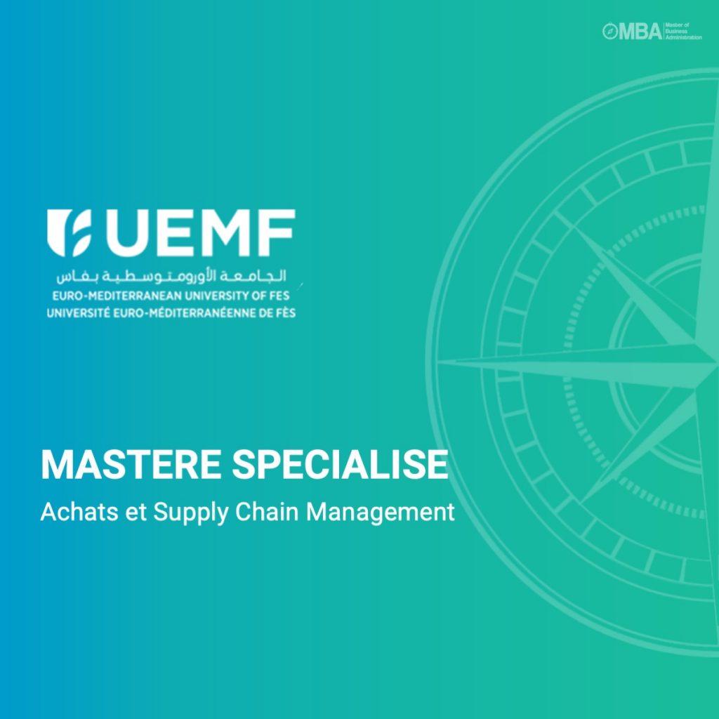 Master specialise achat et supplu chain - UEMF