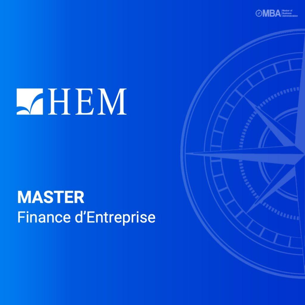 Master en Finance d'Entreprise - HEM I MBA.MA, Le guide des Masters