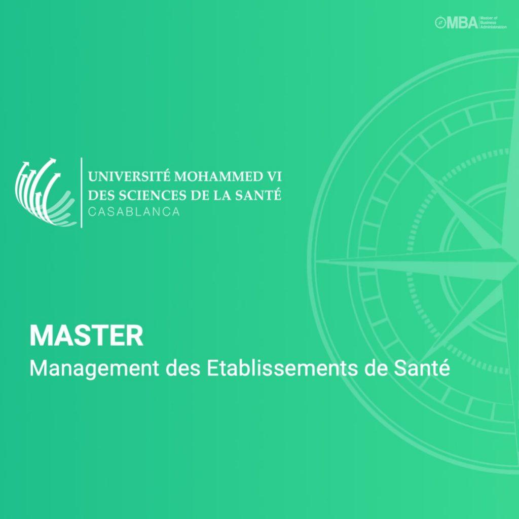 master management des etablissements de santé - UM6SS