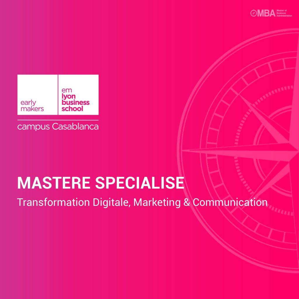 Mastère Spécialisé en Transformation Digitale Emlyon Casablanca