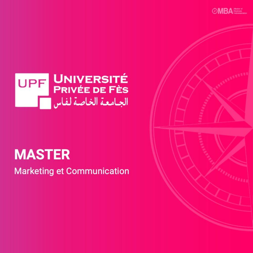 Master marketing et communication - UPF