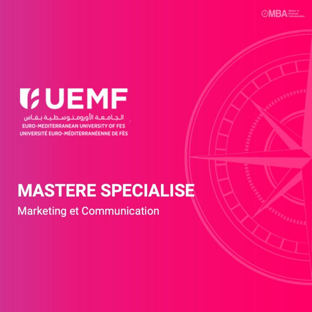 Master specialise marketing et communication - UEMF