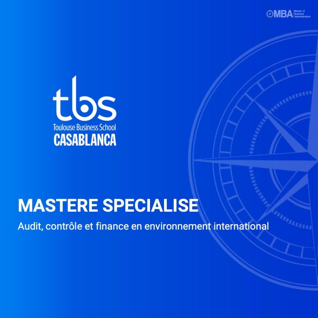 Mastere Audit, contrôle et finance en environnement international- tbs