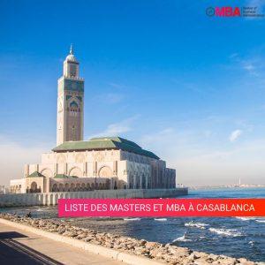 Liste des masters et mba à Casablanca