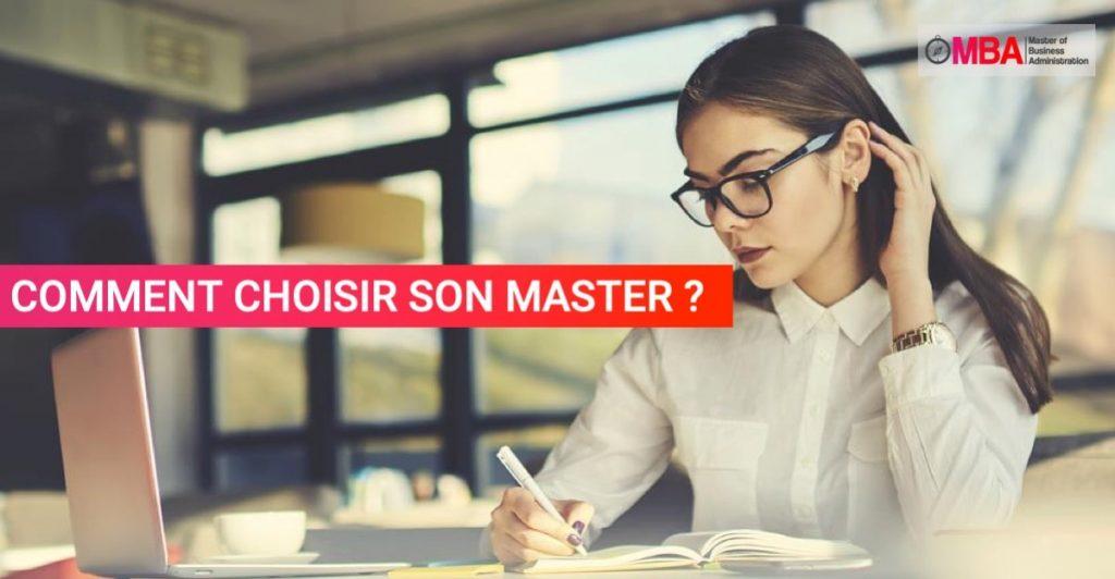 Comment choisir son master