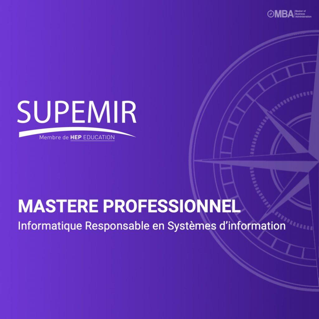 Master professionnel en informatique responsable en systèmes d'information