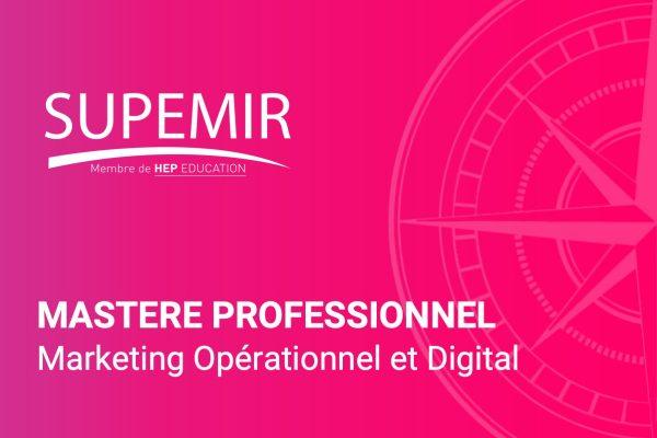 Mastere professionnel en marketing opérationnel et digital - Supemir