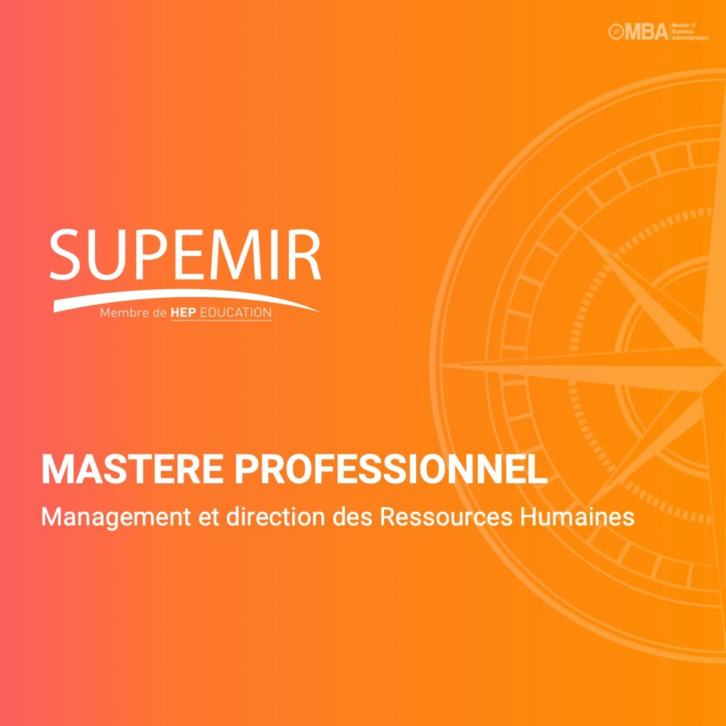 Mastere professionnel management et direction des RH - Supemir
