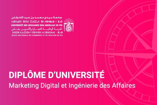 Diplome d'université marketing digital et ingénierie des affaires - ENCGF