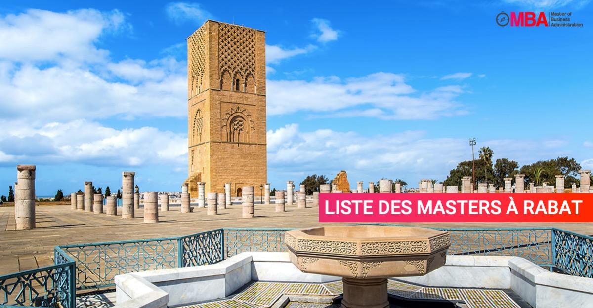 Liste des Masters à Rabat