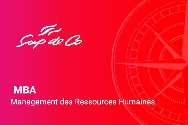 MBA Management des RH - SupdeCo