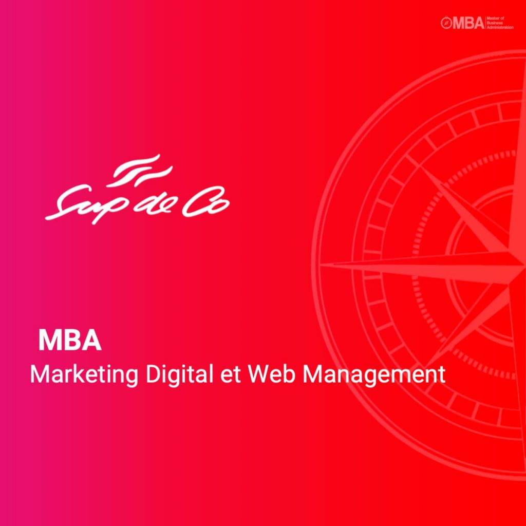 MBA Marketing Digital et Web Management- SupdeCo