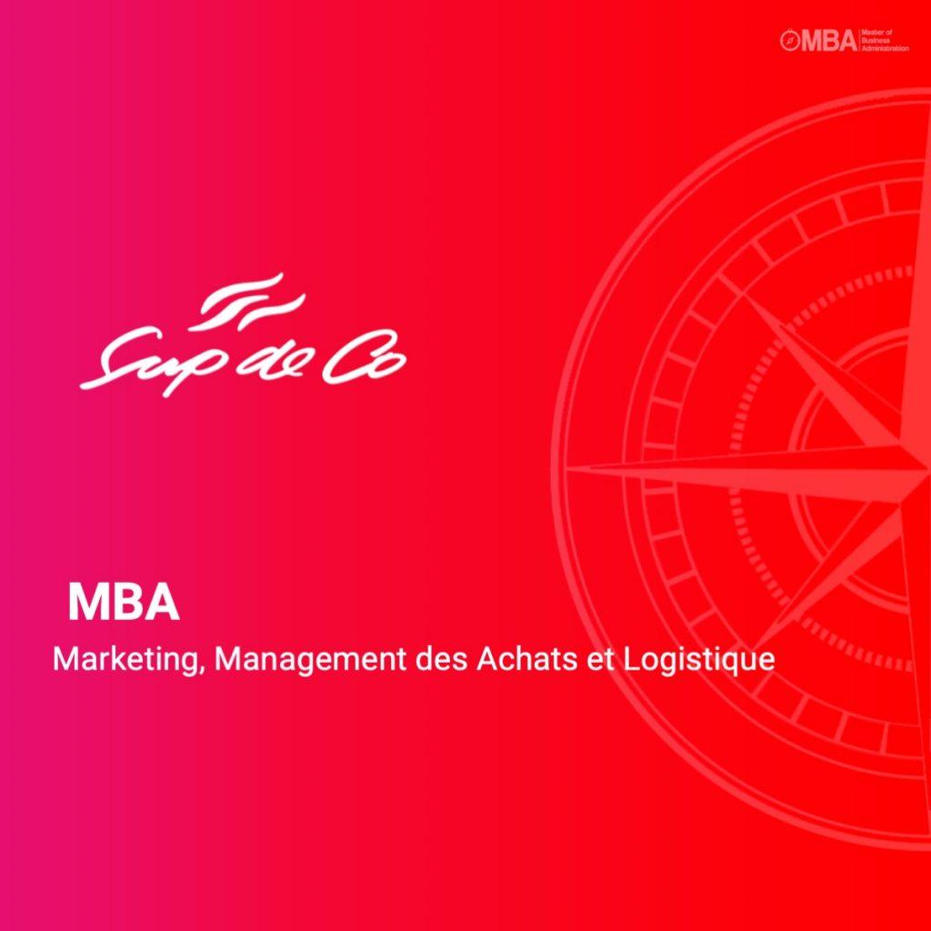 MBA Marketing, Management des Achats et Logistique - SupdeCo