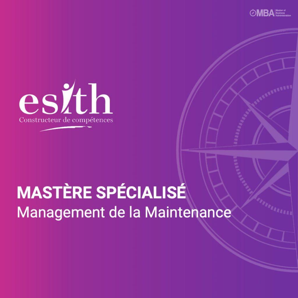Mastère spécialisé en management de la Maintenance - ESITH