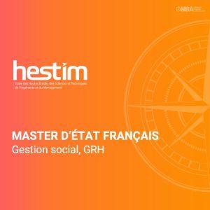 Master d'etat français en gestion social_HESTIM