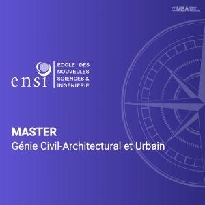 Master en Génie Civil-Architectural et Urbain - ENSI