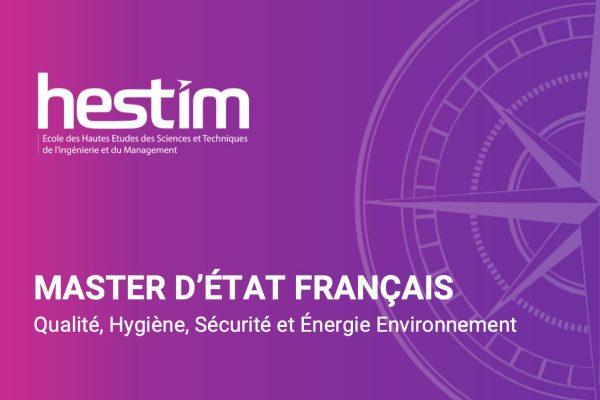 Master en Qualité – Hygiène – Sécurité – Énergie Environnement-HESTIM