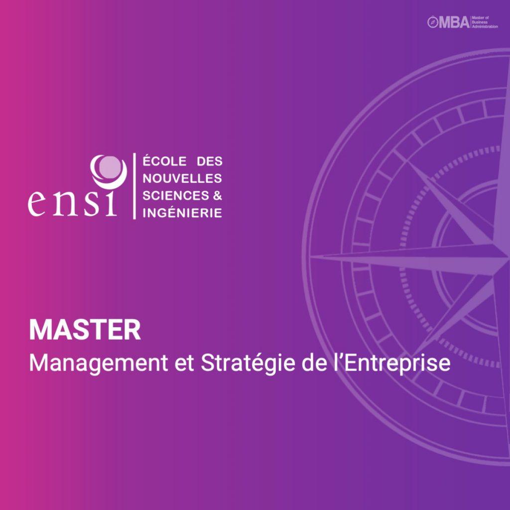 Master en management et stratégie de l'entreprise - ENSI