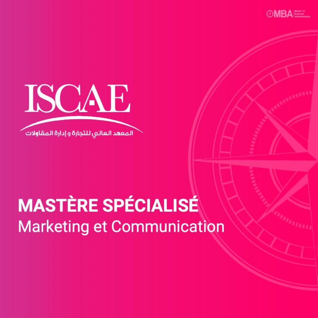 Mastère spécialisé en marketing et communication - ISCAE