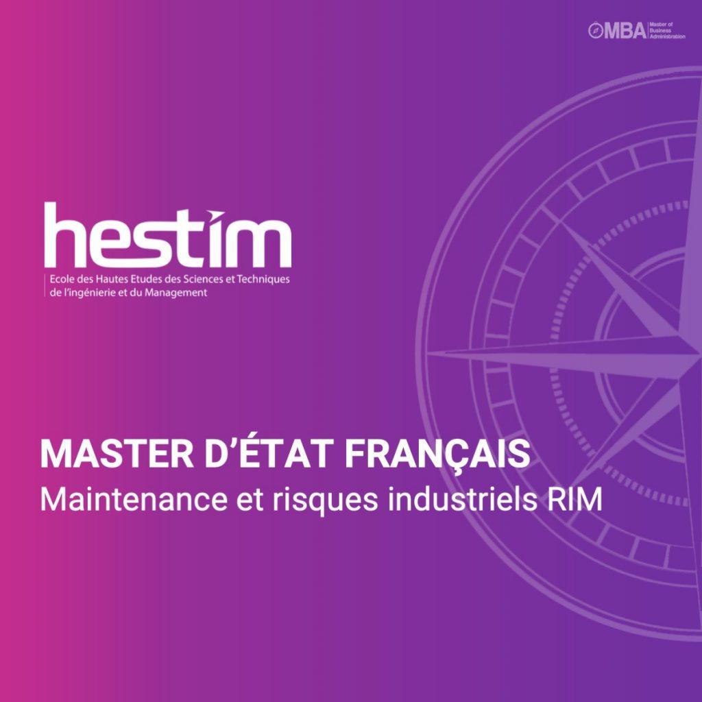 Master d'état français en maintenance et risques industriels - HESTIM