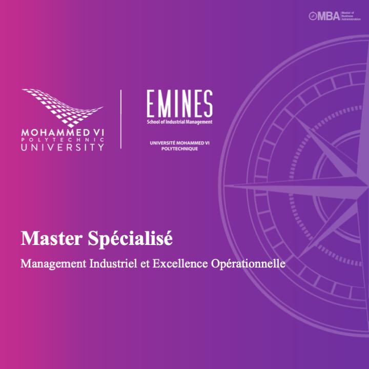 Master Spécialisé Management Industriel et Excellence Opérationnelle - EMINES