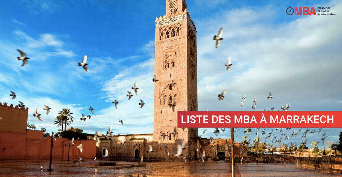 Liste des MBA à Marrakech