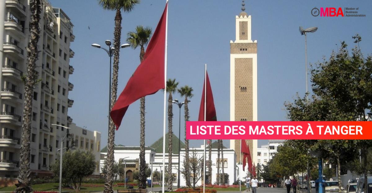 Liste des masters à Tanger