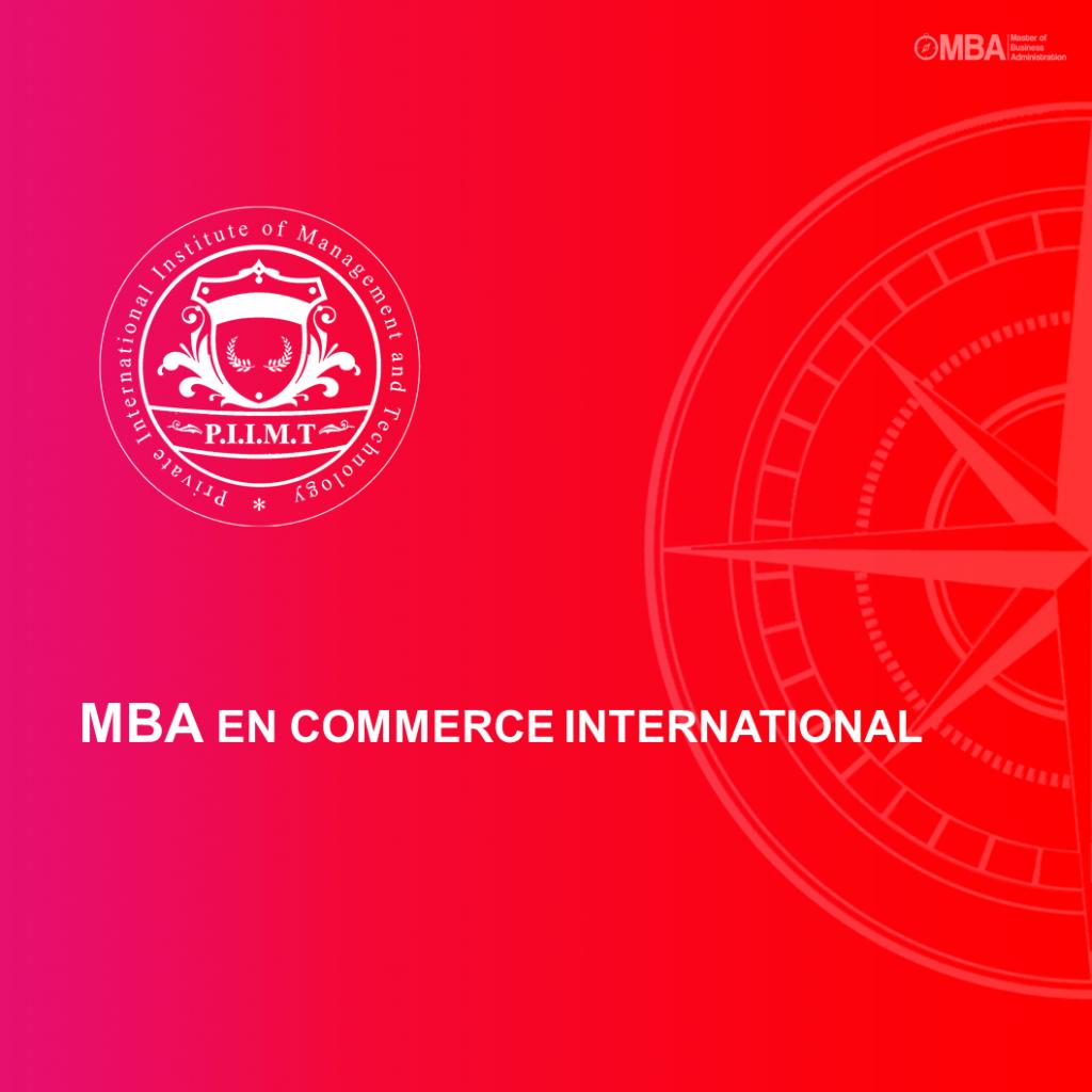 MBA en Commerce International - PIIMT