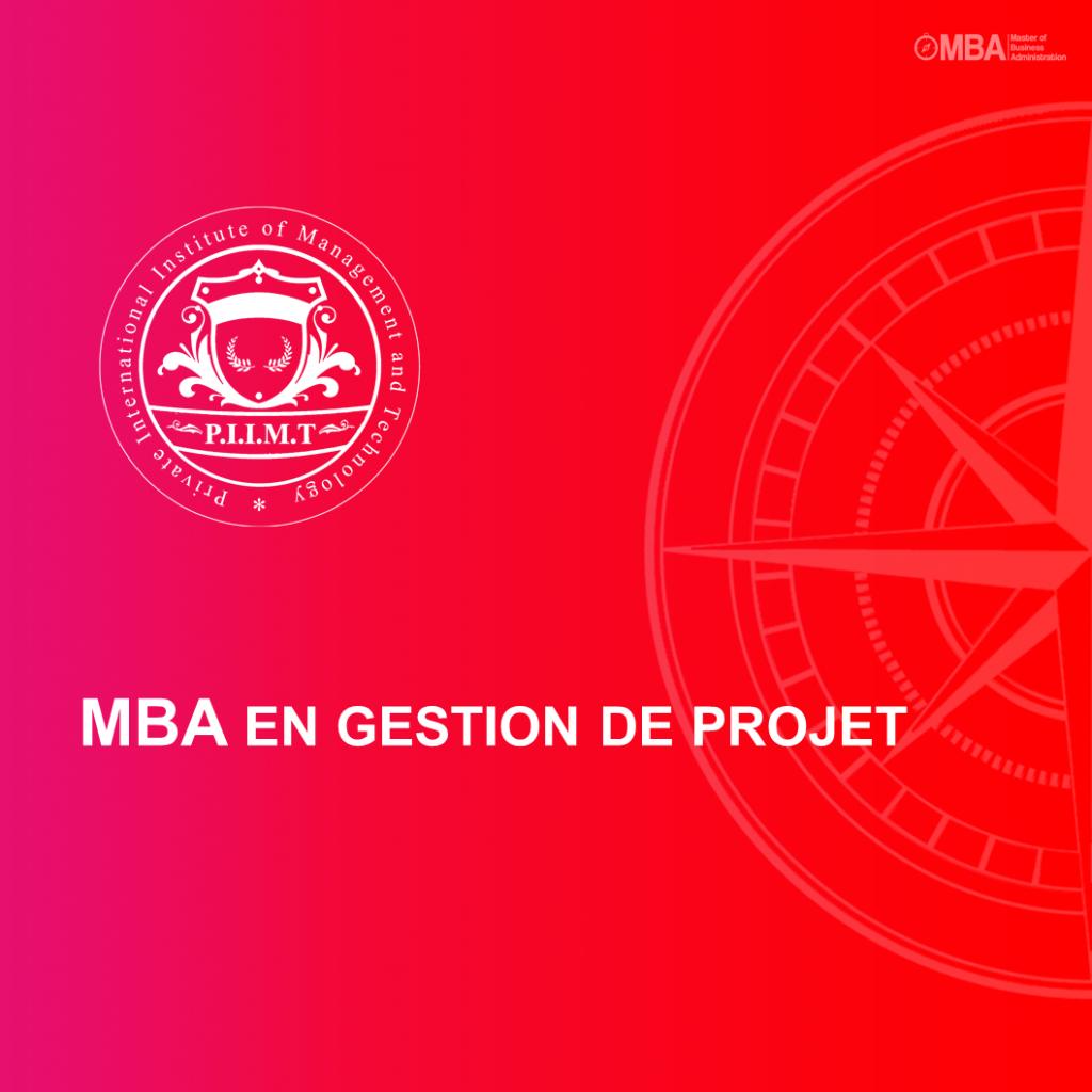 MBA en Gestion de Projet - PIIMT