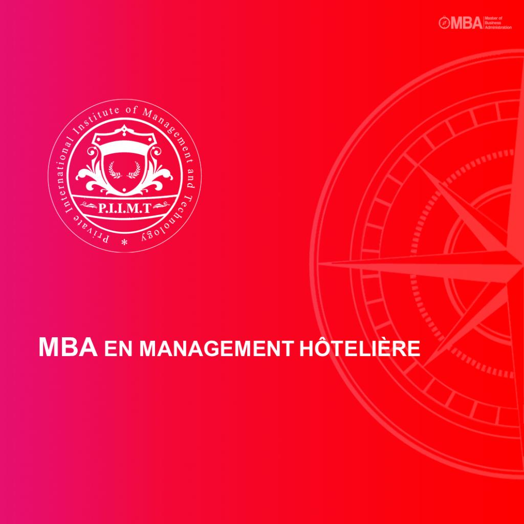 MBA en Management Hôtelière - PIIMT