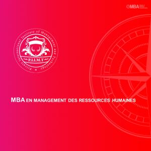 MBA en Management des Ressources Humaines - PIIMT