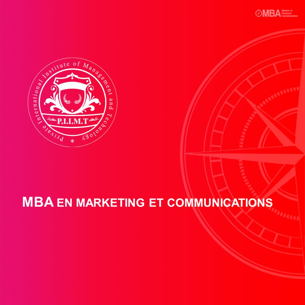 MBA en Marketing et communications - PIIMT