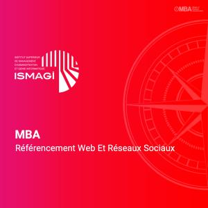 MBA en Référencement Web Et Réseaux Sociaux - ISMAGI