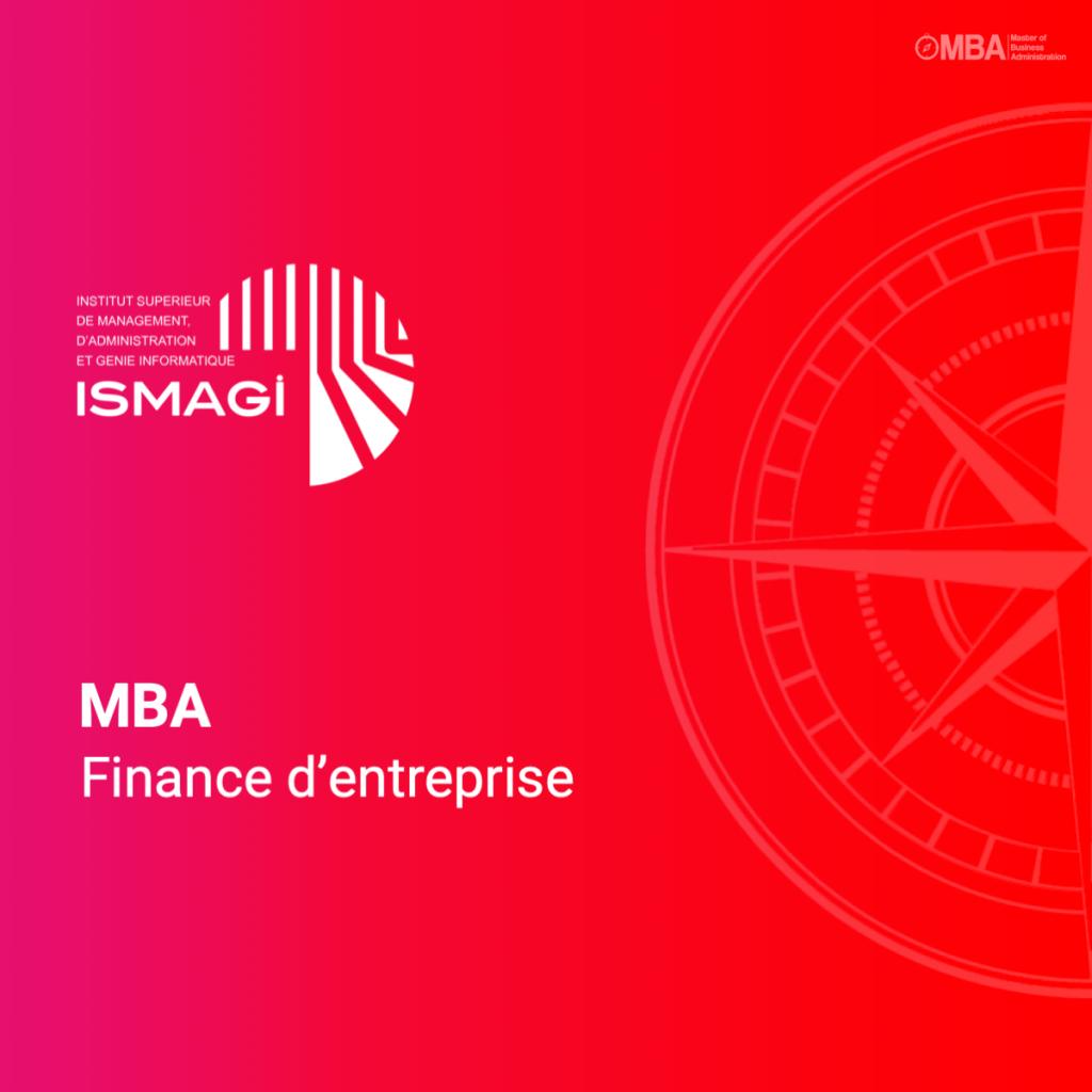 MBA en finance d'entreprise - ISMAGI