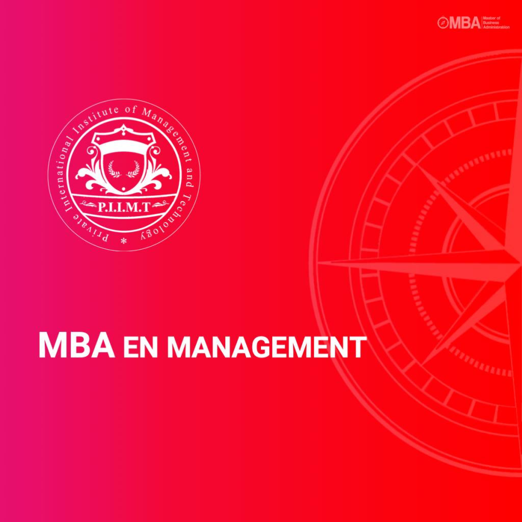 MBA en management - PIIMT