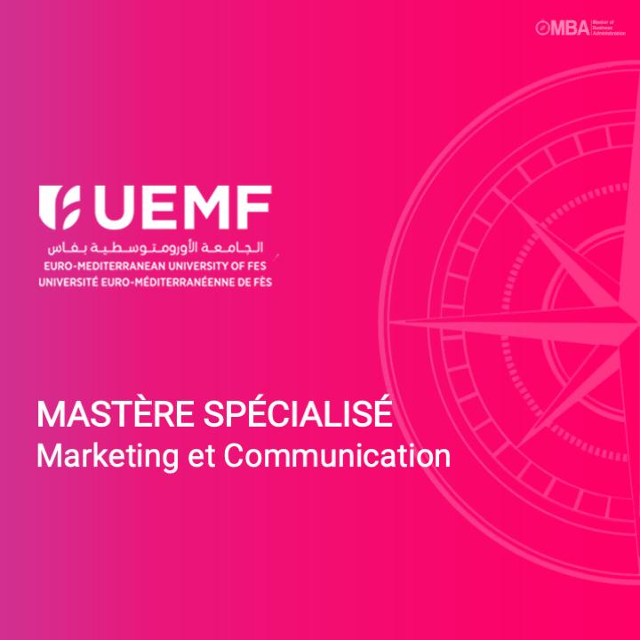 Mastère spécialisé en marketing et communication - UEMF