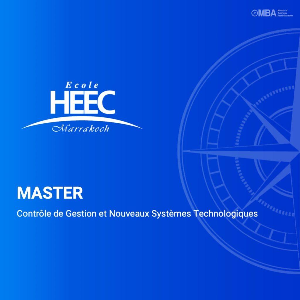 Master Contrôle de Gestion et Nouveaux Systèmes Technologiques - HEEC