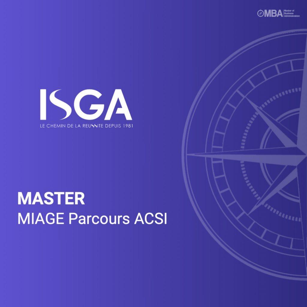 Master MIAGE Parcours ACSI