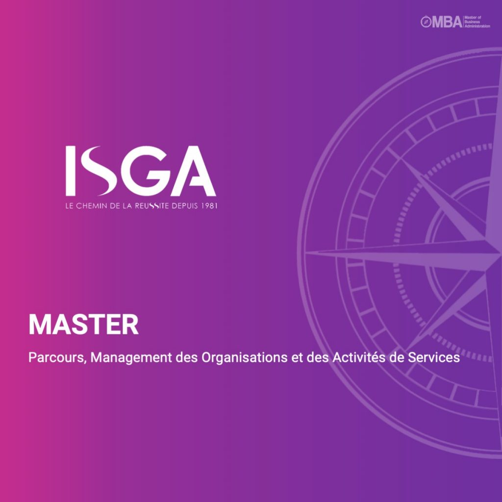 Master Management des organisations - ISGA