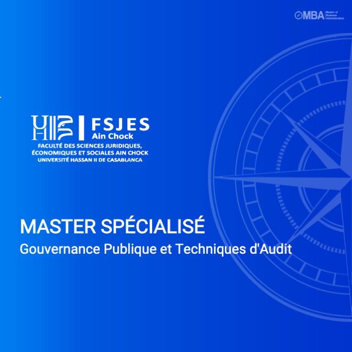 Master spécialisé en Gouvernance Publique et Techniques d'Audit - FSJES