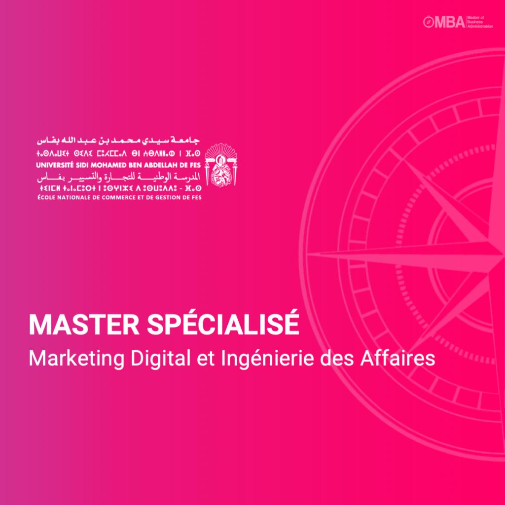 Master spécialisé en marketing digital et ingénierie des affaires - encg