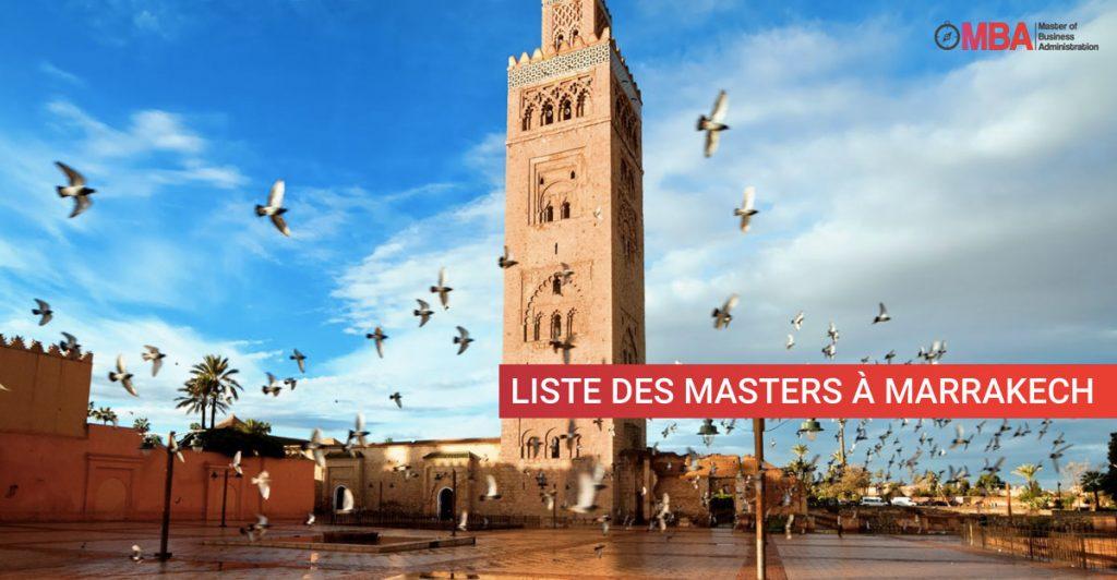 Liste des masters à Marrakech