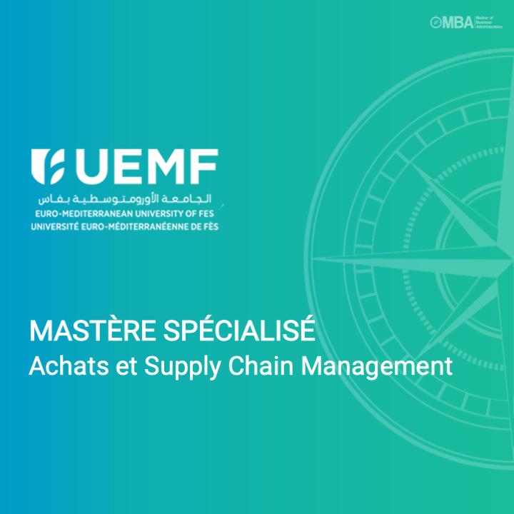 Mastère spécialisé Achats et Supply Chain Management - UEMF