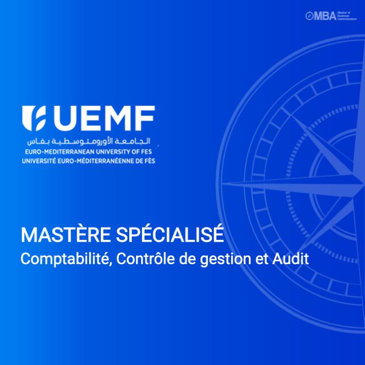 Mastère spécialisé en Comptabilité, Contrôle de gestion et Audit - UEMF