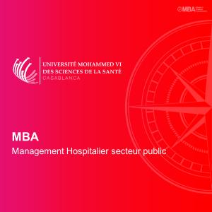 MBA en Management Hospitalier secteur public – UM6SS