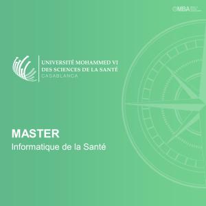 Master Informatique de la Santé – UM6SS